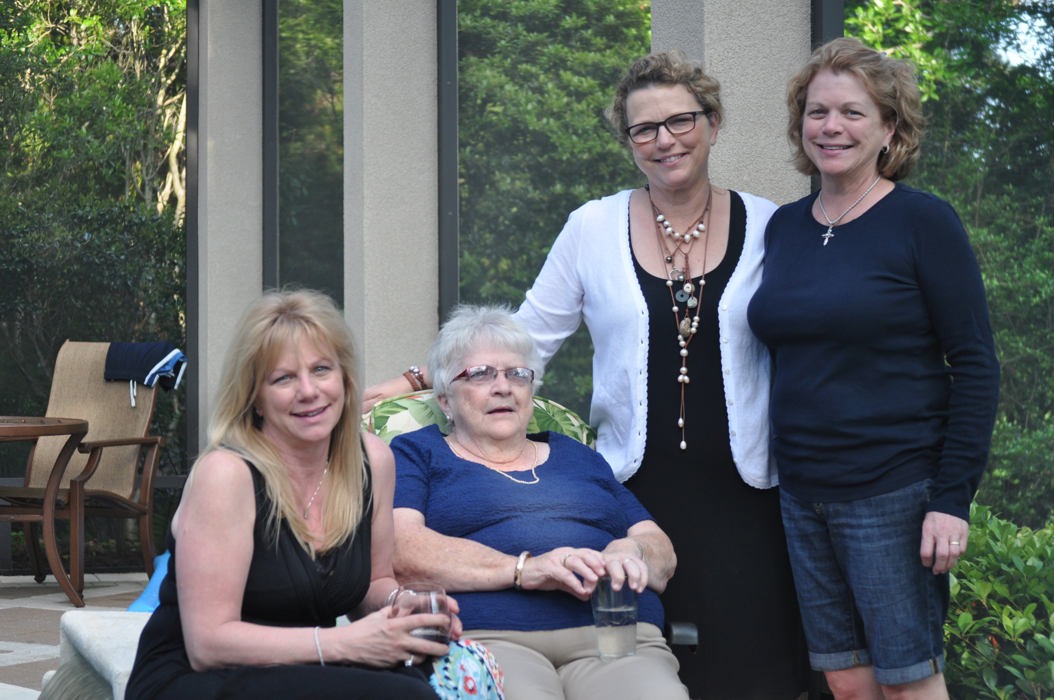 One of my favorites of Mom, Cindy, Barb and I at Cindy's home in Destin.  March 2012