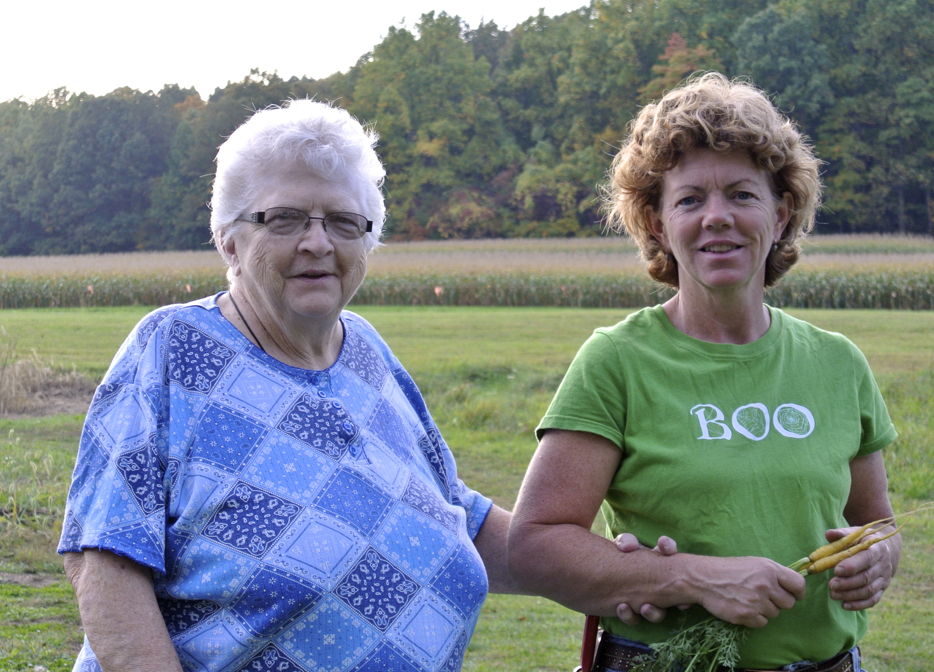 A great pic of Mom and Mary.  Summer 2012