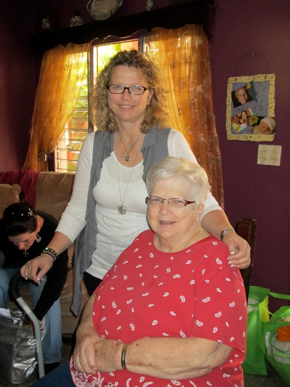 The women in the beauty class at Mi Esperanza center in Tegucigalpa washed and styled mom's hair.  They loved her.
