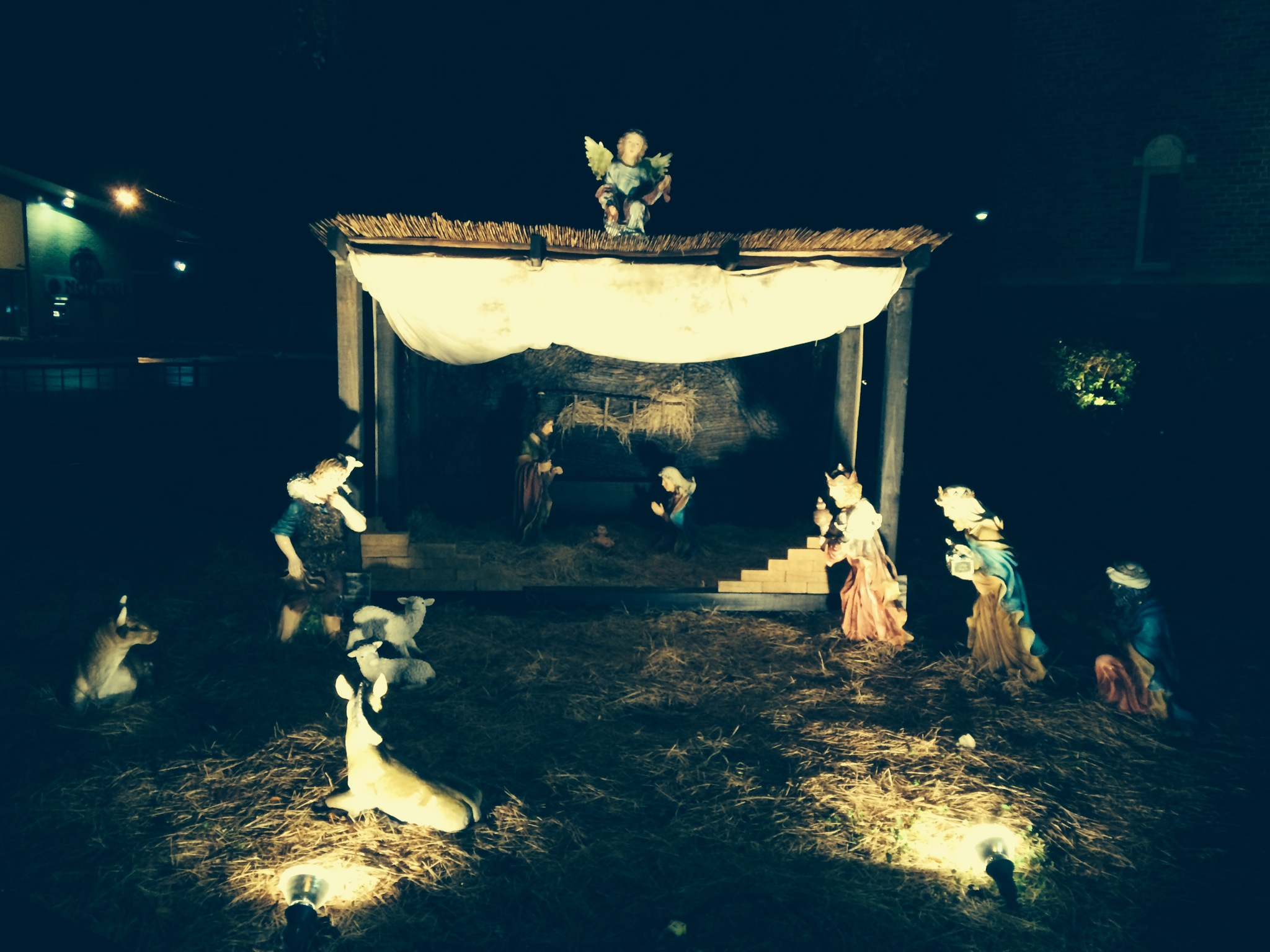 Our Lady of the Lake Nativity Scene