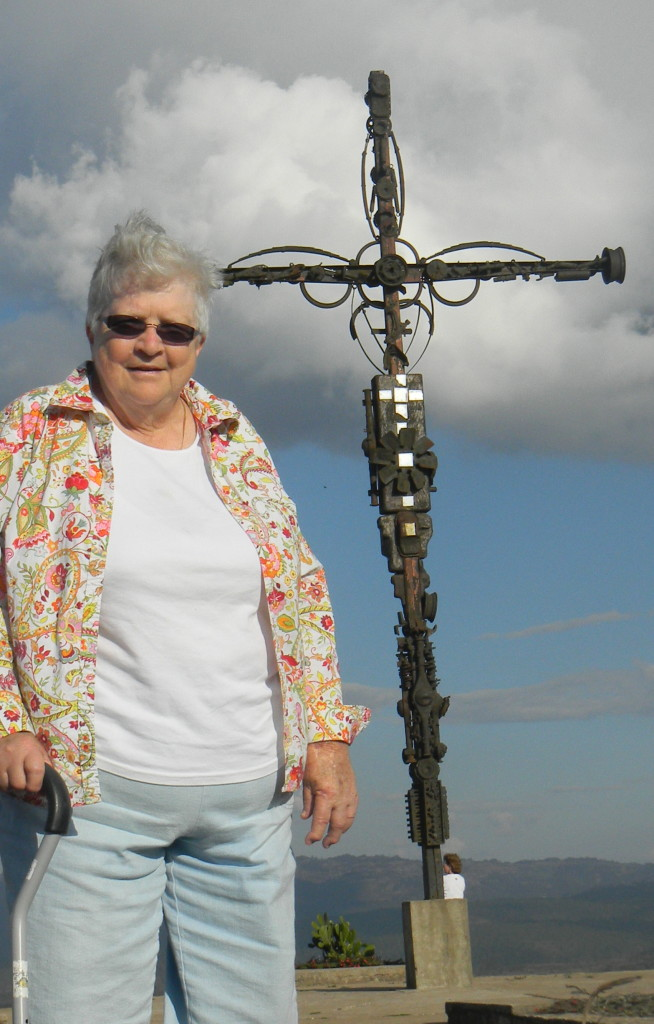 mom at the cross
