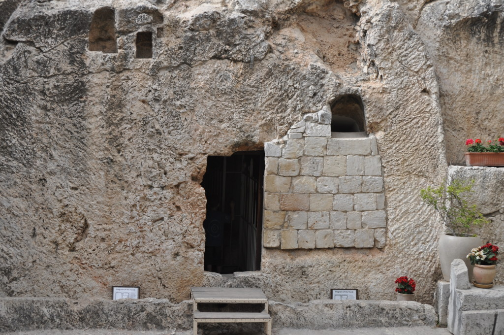This is believed to be the tomb where Jesus was laid.