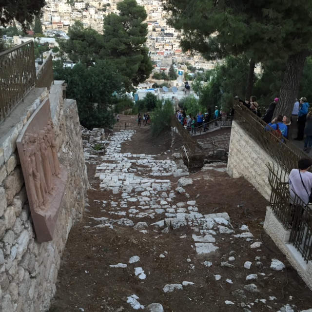 This is the ancient path between the now ruins of Caiaphus' and Anas' homes. To see how it has survived over two centuries is breathtaking. To walk it - soul stirring in the deepest ways.