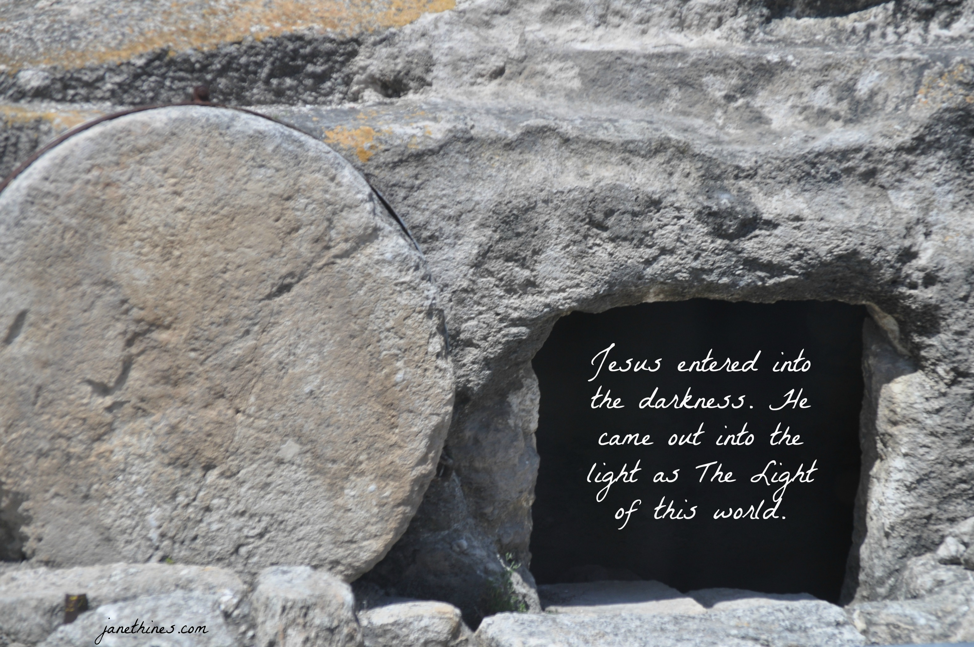 Tomb in Israel - into darkness into light
